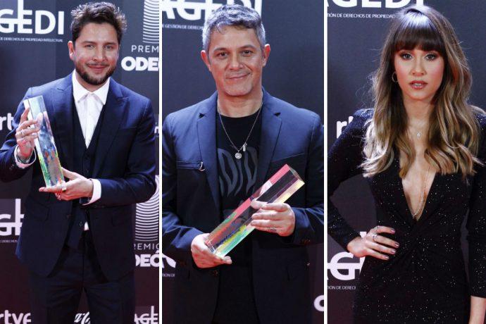 Aitana, Manuel Carrasco y Alejandro Sanz en los premios Odeón